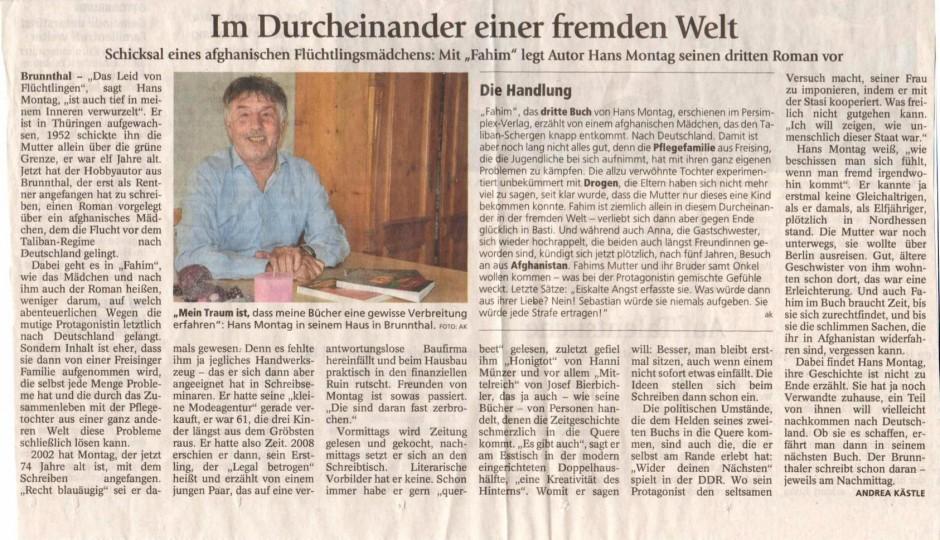 Erschienen im 'Münchner Merkur' vom 10.2015